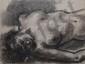 COLIN Paul, 1892 -1985 Baigneuse dormant fusain et estompe, signé en bas à gauche,  49 x 64,5 cm.