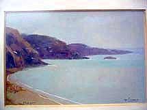 LIENAUX Fernand, 1897-1980 Morgat Aquarelle