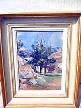GENOUD Nanette (1907-1987) Paysage Huile sur