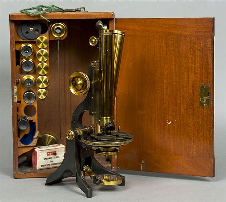 A 19th century binocular microscope by j swift son totten for Asian furniture tottenham court road