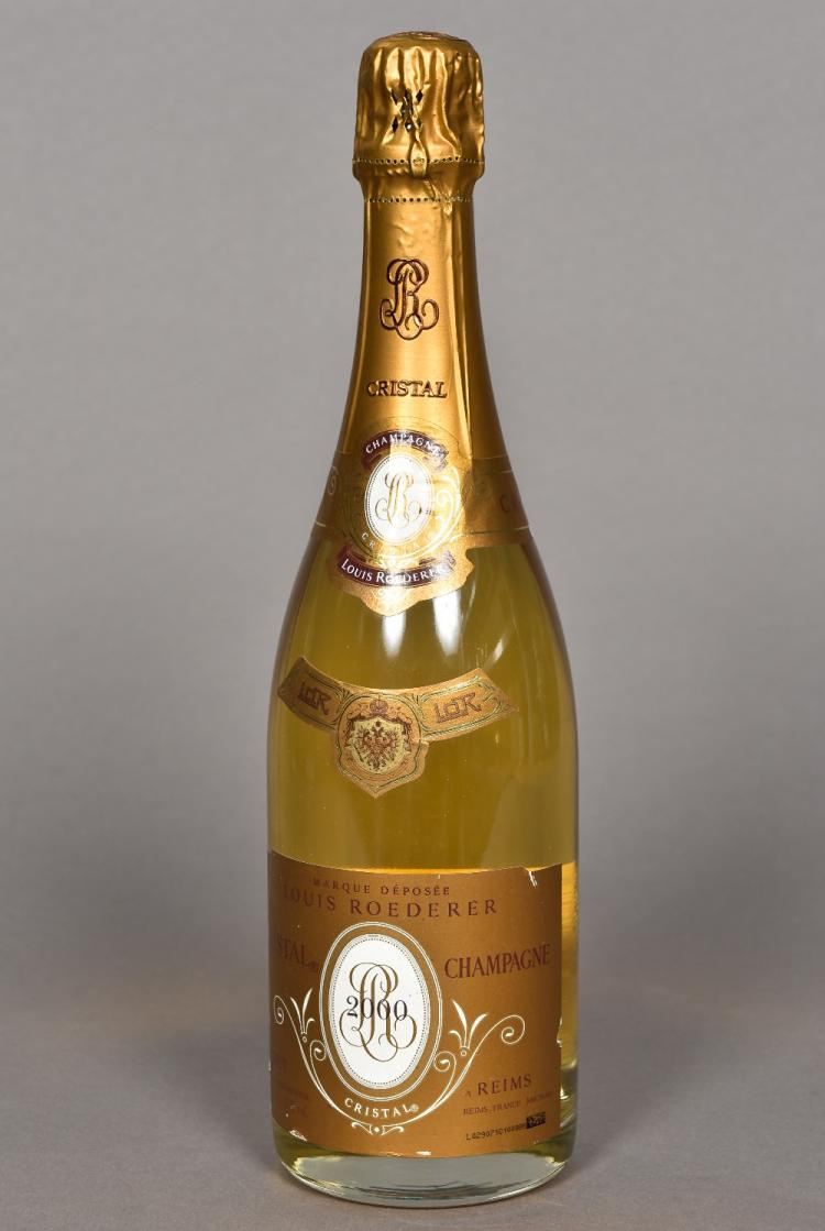 louis roederer cristal champagne 2000 single bottle. Black Bedroom Furniture Sets. Home Design Ideas