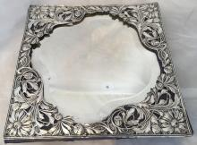 An Art Nouveau silver mounted dressing table mirror, hallmarked Chester 190