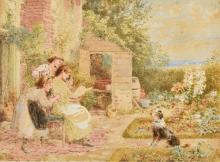 MYLES BIRKET FOSTER (1825-1899) British The Days News Watercolour and bodyc