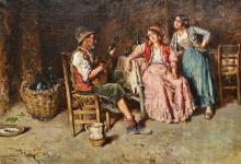 GIUSEPPE GIARDIELLO (flourished 1877-1820) Italian The Hopeful Serenade  Oi