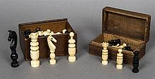 A late 19th/early 20th century French Colonial Regence ivory and brown stai
