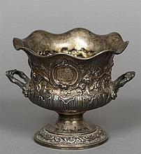A William IV silver vase, hallmarked London 1833, maker's mark of RH Of twi
