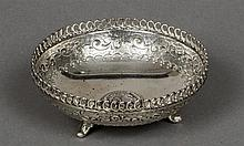 A 925 silver bowl Centred with a classical roundel.  13 cm diameter.