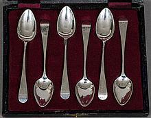 A set of six George III teaspoons, hallmarked London 1799, maker's mark of