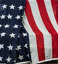 A 20th century American flag, circa 1912-1959 Worked with forty-eight stars