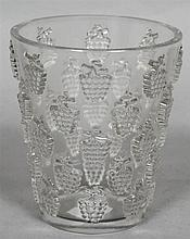 A Lalique glass vase Malaga pattern, stencilled mark Lalique France to base