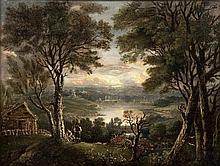 Manner of PATRICK NASMYTH (1787-1831) British Resting Shepherds in an Exten