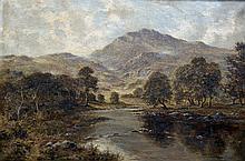 HENRY COOPER (flourished 1910-1935) British Mountainous River Landscape Oil