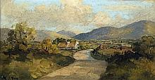 HENRY J FOY (20th century) Irish Mourne Mountains Between Hilltown & Newcas