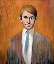 *AR TOM KEATING (1917-1984) British Portrait of David de Gans, half length,