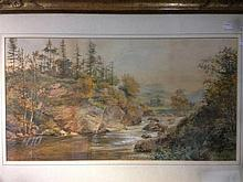 *AR SIR JAMES CAW (1864-1950) Scottish River Landscape Watercolour Signed 6