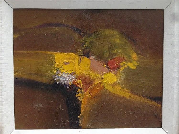 *AR REG GADNEY (born 1941) British Love Landscape VI Oil on board Inscribed