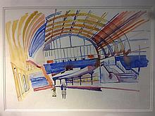 *AR FRED YATES (1922-2008) British French Railway Station Watercolour Bears