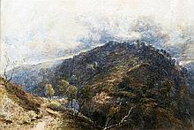 JOSEPH HASLAM HAWKSWORTH (1827-1908) British Moorland Landscape Watercolour