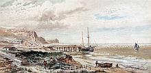LEOPOLD RIVERS (1850-1905) British The Yorkshire Coast Near Whtiby Watercol