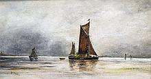 E JONES (19th century) British Coastal Shipping Oils on canvas Signed 45 x