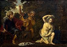 ITALIAN SCHOOL (18th century)  Biblical Scene Oil on canvas 90 x 64 cm, fra