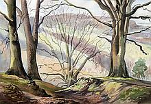 *AR LEONARD RUSSEL SQUIRRELL (1893-1979) British Wooded Landscape Watercolo