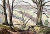 *AR LEONARD RUSSEL SQUIRRELL (1893-1979) British Wooded Landscape Watercolo, Leonard Russell Squirrell, £60