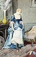 ARTURO ORSELLI (19th century) Italian A New Pair of Shoes Watercolour Signe
