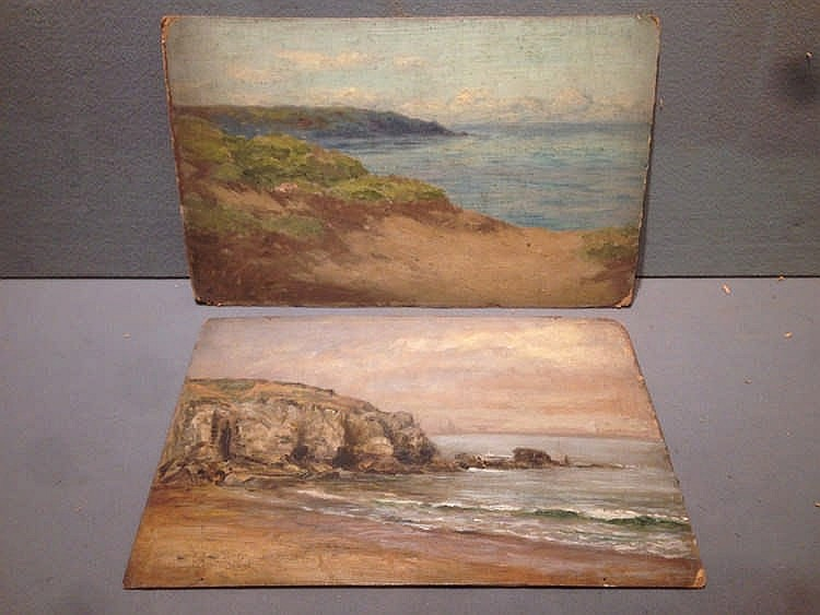 JOSEPH DIXON CLARK (1849-1944) British A quantity of seascape studies Oils