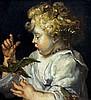 *AR GUISEPPE VAN WESTERHOUT (born 1929) Italian, after PETER PAUL RUBENS (1577-1640) Flemish Boy With Bird Oil on board Signed 19 x 21 cm, framed, Petrus Paulus Rubens, £50