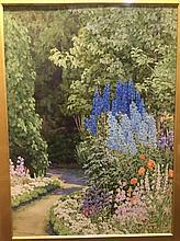 FRANCES DRUMMOND (flourished 1896-1925) British Flowering Garden Watercolou
