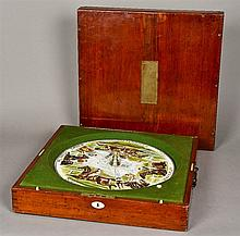 A deluxe mahogany Sandown roulette style horseracing game by F H Ayres, Lon