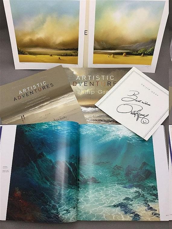 PHILIP GRAY.  Artistic Adventures Under a Canvas Sky Collectors box set lim
