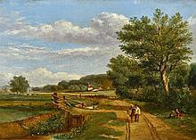 Attributed to OBADIAH SHORT (1803-1886) British Whittlingham Lane, Norwich
