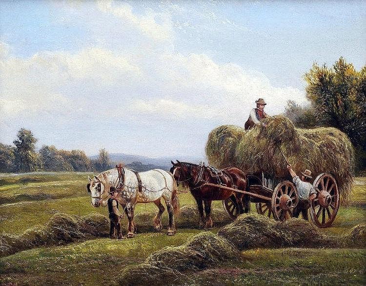 WILLIAM VIVIAN TIPPETT (1833-1910) British The Hay