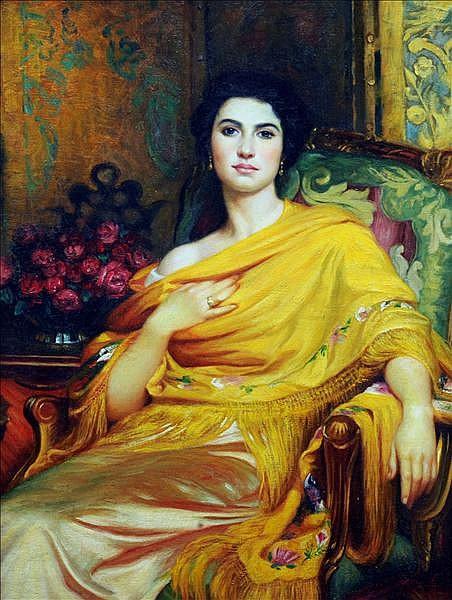 After FRANK DICKSEE (1853-1928) British Portrait