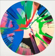 ROSE POPAY (born 1974) British (AR) H2H (Homage 2 Hirst) Acrylics spin pain