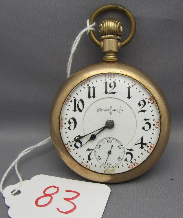 Illinois Railroad Pocket watch 21 Ruby Jewels Bunn Special face has some damage