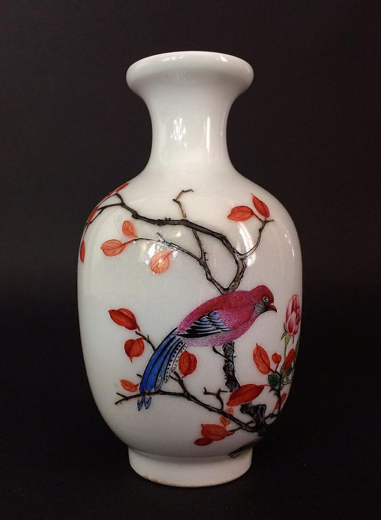 Beautiful antique chinese hand painted vas for Asian antiques uk