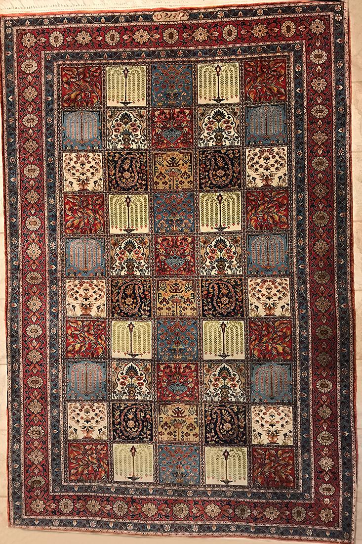 Persian Semi-Antique Qom rug
