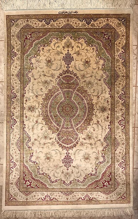 Persian Qom Rug.58X38