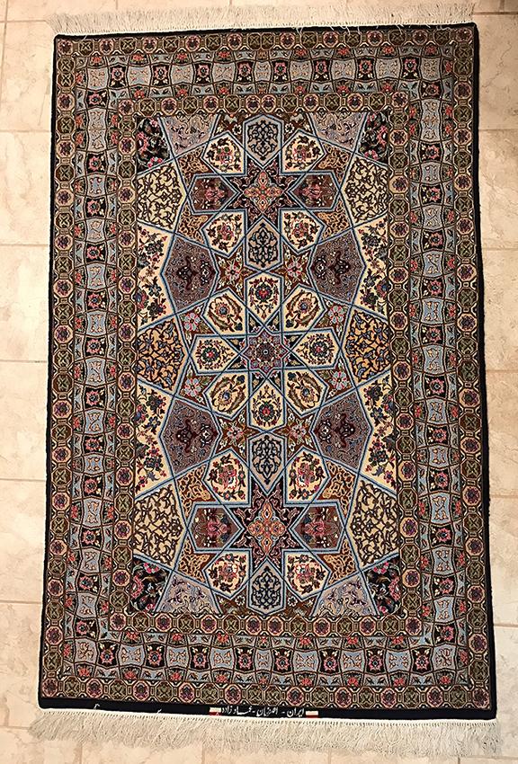 Persian Isfahan Rug. 70X43-1/2