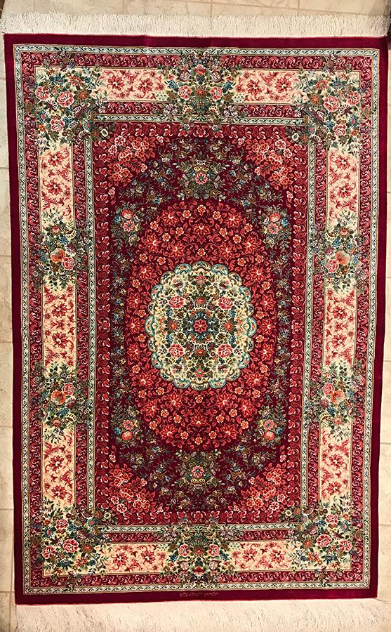 Persian Qom Rug.80X53