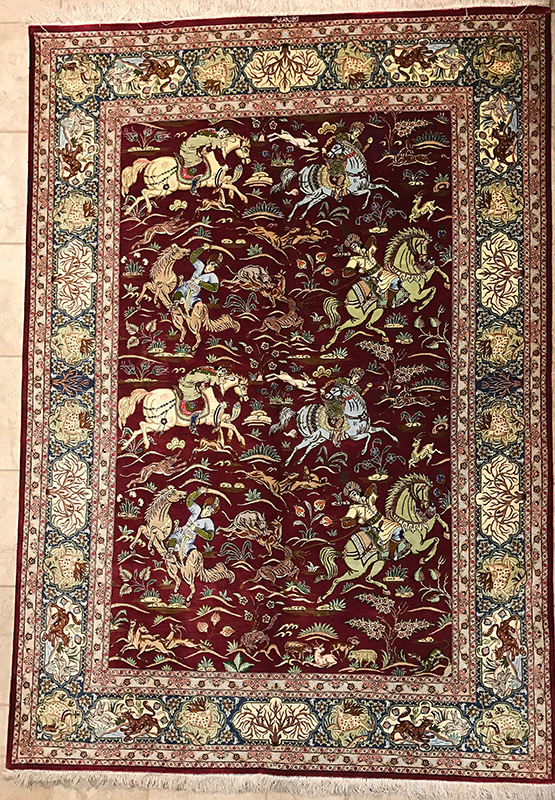 Persian Silk Qom Rug