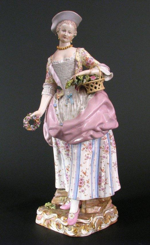 Large Meissen Figure. 19th Century