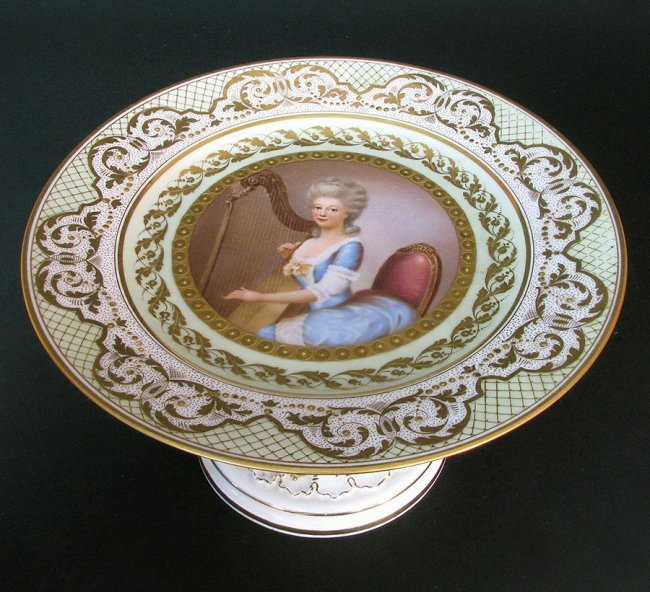 Hand Painted Meissen Tazza