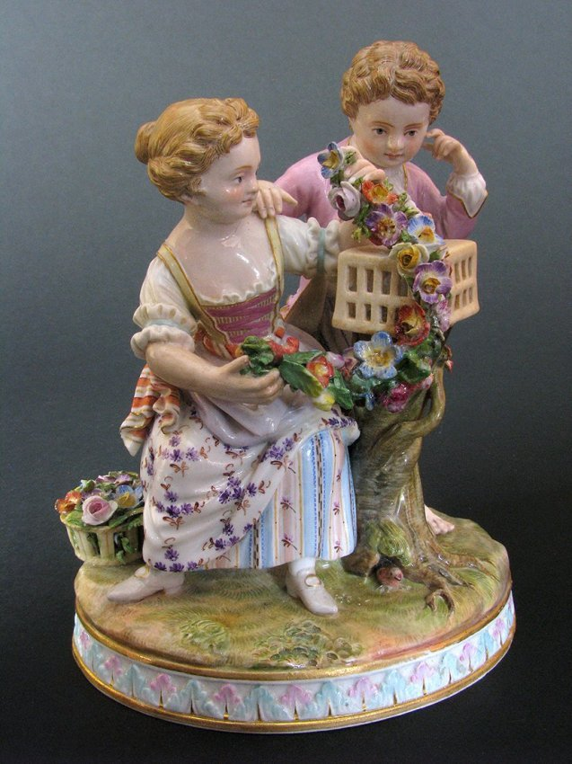 Small Meissen Figural Group