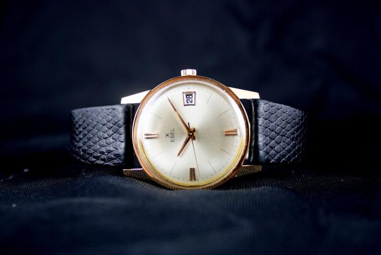 Vintage Solid Gold EBEL Swiss Watch 1965 Excellent Cond
