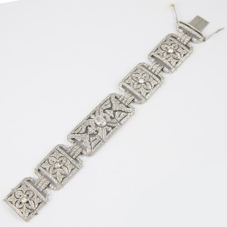 Diamond Bracelet Set on Platinum over 17 CT of Diamond