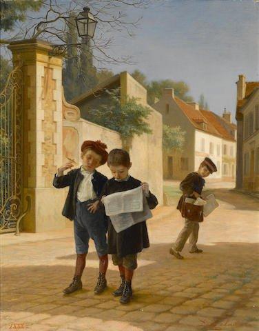 André Henri Dargelas (French, 1828-1903) Schoolboys Edit